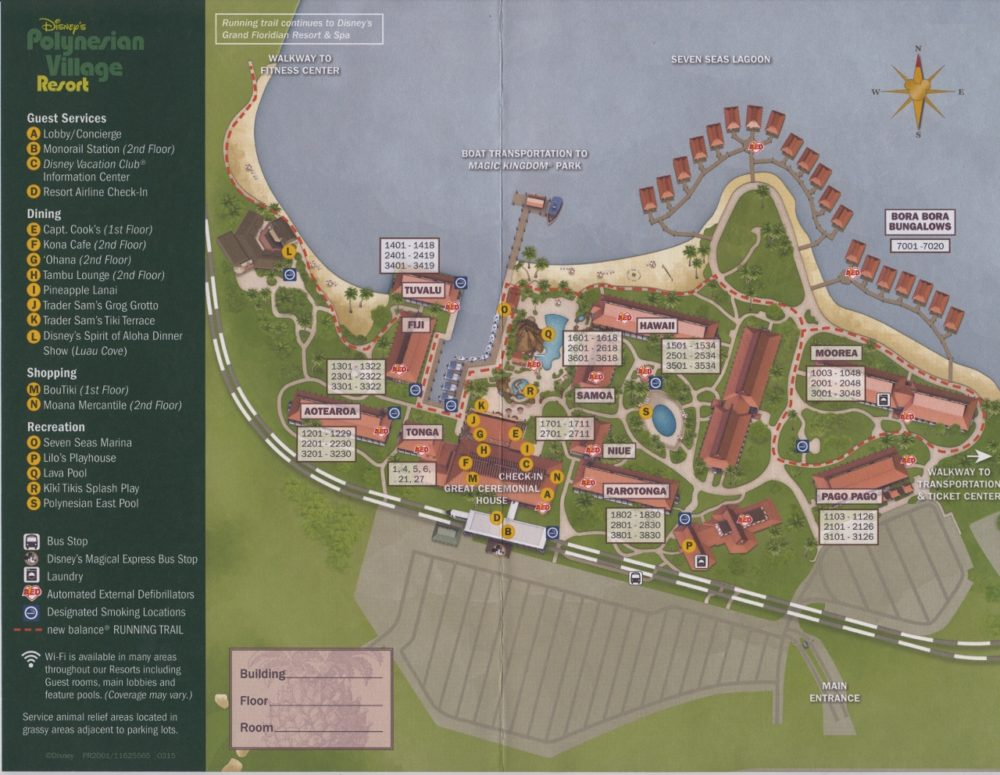 Disney S Polynesian Village Resort Map Doctor Disney