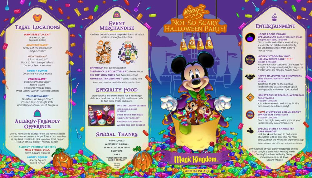 Map For Mickey's Not-So-Scary Halloween Party 2018 Revealed [Photos]
