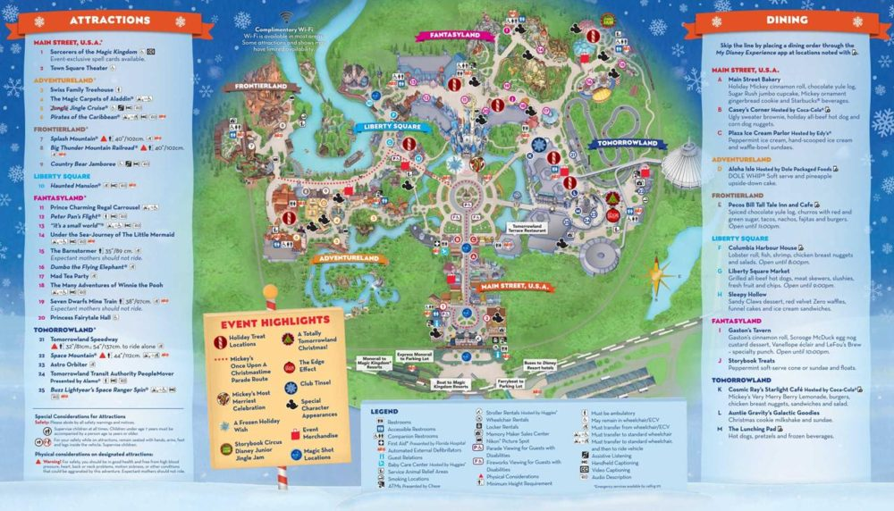 Adventureland Disney World Map.Mickey S Very Merry Christmas Party 2018 Guide Character Locations