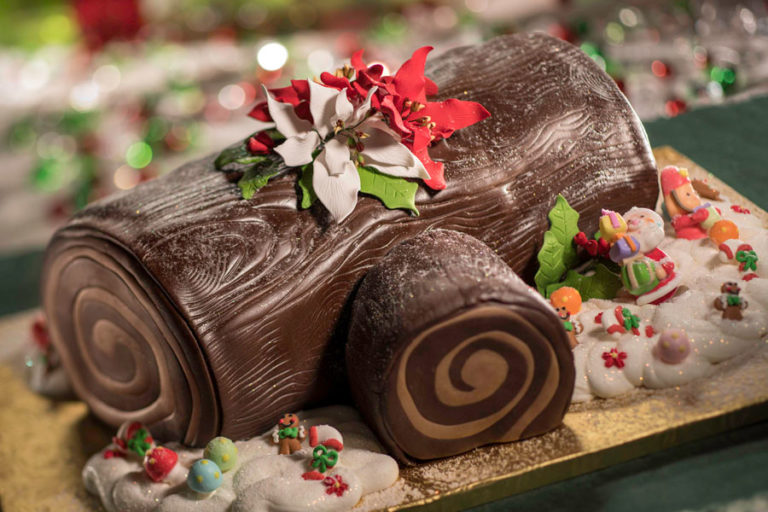 jingle bell jingle bam yule log dessert